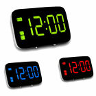 LED Digital Alarm Clock Control Snooze Voice Battery/USB Time LCD Display F4O9C