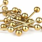 316L Steel Gold Tongue Bar Straight Barbell Piercing Eyebrow Tragus Nipple