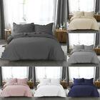 Microfiber Duvet Cover Set with Pillow Shams Twin Queen King Deco Buttons image