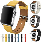 Luxury Leather Watch Strap Bracelet Wrist Band For Apple Watch 1/2/3/4 38/42mm image