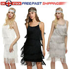 1920s Great Gatsby Dress Flapper Party Vintage Tassel Womens Fringed Dresses UK
