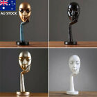 Au Modern Women Face Resin Ornament Sculpture Thinker Figure Statue Home Decor