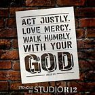 Walk Humbly with Your God Stencil by StudioR12 | Bible Verse Micah 6:8 |...