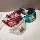 Kids Girl Capital Letter Sequins Bum Bag Fanny Pack Crossbody Shoulder Bag Ornat