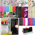 For Sony Xperia XZ XZ2 Premium Phone Case Wallet Cover Leather + Touch Stylus