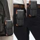 Vertical Leather Cell Phone Pouch Card Holder Case With Belt Clip Holster Wallet