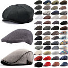 Mens Womens Gatsby Golf Newsboy lvy Hat Classic Cabbie Driving Casual Beret Cap