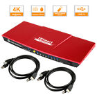 TESmart 4 Port KVM Switch HDMI Switcher 4K@30Hz with 2 Pcs 5ft/1.5m Cabel