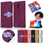 Magnetic Bling Glitter Leather Wallet Card Slot Case Cover For OnePlus 7 Pro 6t