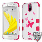 For HTC Bolt TUFF Hybrid Hard Silicone Phone Armor Skin Protector Case Cover
