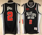 2Pac All Eyez On Me Album Cover Authentic Basketball Hip Hop Rap Jersey Tupac