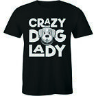 Crazy Dog Lady T Shirt Funny Cute Animal Lover Gift Present Slogan Idea Mens Tee