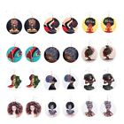 Earrings Fashion Ethnic Natural Wood Luxury Jewelry African Hair Queen Girl Afro