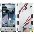Design Hard Case +Silicone Protector TUFF Cover for Sharp 306 Aquos Crystal