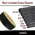 12FT 1 19 16 Braided Split Wire Loom Cable sleeving Wiring Harness Manage Lots