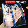 For Xiaomi Mi 9 8 9T Pro A2 Magnetic Metal 360 Front+Back Glass Case Flip Cover