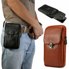 Pu Leather Cell Phone Waist Bag Wallet Case Card Purse Fanny Pack For Men&women