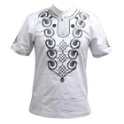 Traditional Mali African Men Vintage embroidered Tee Top Plain Colors Y20467