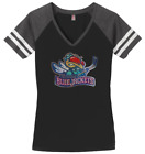 Women's Columbus Blue Jackets Ladies Bling T-Shirt V-neck Shirt Tee Sparkle $25.49 USD on eBay