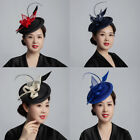 Women Girl Fascinators Hair Clip Hairpin Hat Feather Cocktail Wedding Tea Party