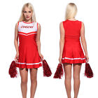 Womens High School Cheerleading Cheer Girl Dress Musical Costume Outfit