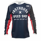 Fasthouse Heritage Mens Jersey Moto - Navy Red White All Sizes