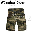 Military Men's CAMO CARGO SHORTS Camouflage BERMUDA Work Army Loose Baggy Pants