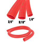 Red All Sizes Split Loom Conduit Convoluted Tubing Wire Cable Management LOT