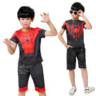 Spider-Man Far From Home Cosplay T-shirt Pant Peter Parker Costume Kids 3D Print