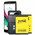 For LG G4 High Capacity 5000mAh Replacement Extra Battery or Travel Home Charger