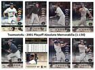 2001 Playoff Absolute Memorabilia (1-150) Set ** Pick Your Team ** See Checklist on Ebay
