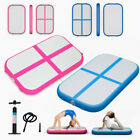 3.3FT Inflatable Gymnastic Mat  Air Track Tumbling Training Yoga With Pump