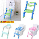 Baby-Kids-Potty-Training-Seat-with-Step-Stool-Ladder-Child-Toddler-Toilet-Chair image