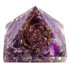 Authentic EXTRA LARGE Amethyst Orgone Crystal Pyramid XL Handmade USA SELLER