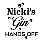 Personalised 'name's Gin Hands Off' Glass Vinyl Decal Sticker - Ideal Diy Gift