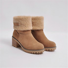 Women Winter Snow Warm Boots Fur Comfy Casual Mid Calf Foldable Lady Shoes Size