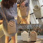 Summer Ladies Rattan Straw Bag Woven Crossbody Beach Bags Square Handbag Bags