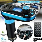 Wireless In Car Bluetooth FM Transmitter MP3 Radio Adapter Car Fast USB Charger