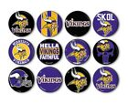 "Minnesota Vikings Button Badge Pin Back Pinback Magnet Flatback 1.25"" Fan Gift $8.99 USD on eBay"