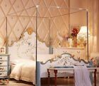 Stainless Steel Mosquito Netting Canopies Frame/Post Full Twin Queen King Size image