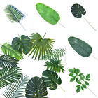 Artificial Palm Tree Leaves Monstera Plastic Tropical Leaves Home Decor Green