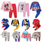 Toddler Kids Baby Boys Girls Night Pajamas Pjs Set Sleepwear Nightwear Outfits