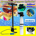Diving Breathing Oxygen Cylinder 500ML 200Bar Air Tank Pump Underwater Breath