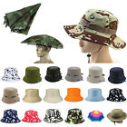 Women Men Floral Bucket Hat Boonie Hunting  Fishing Outdoor Foldable Summer Caps