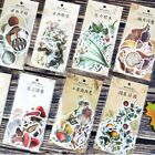45pcs/set Paper Stickers Classical Shaped Plants Diary Label Scrapbooking DIY