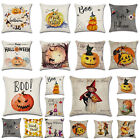 Fall Halloween Pumpkin Pillow Case Waist Throw Cushion Cover Sofa Home Decor NEW image