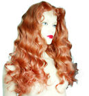 Auburn Red Front Lace Wig Wigs Remi Remy Indian Human Hair Long Wavy Silky