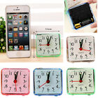 Small Cute Bed Compact Travel Quartz Beep Alarm Battery Operated Clock Portable