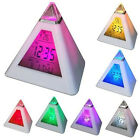 Small LED Digital Alarm Clocks Color Changing Night Light Table Battery Operated