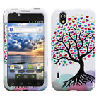 Two Piece Hard Snap on Design Protective Cover Case for LG LS855 Marquee